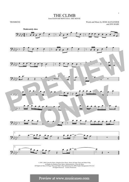 The Climb: For trombone by Jessi Alexander, Jon Mabe