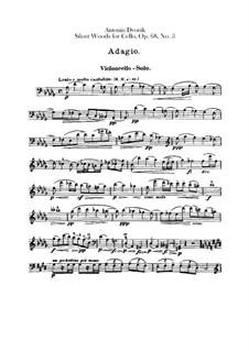 Aus dem Böhmerwald, B.133 Op.68: Nr.5 Waldesruhe, für Orchester – Cellos- und Kontrabassstimmen by Antonín Dvořák