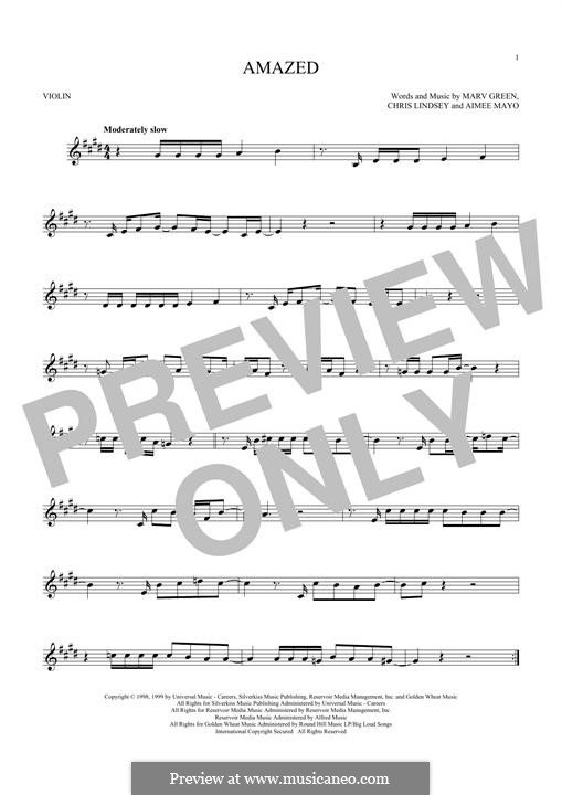 Amazed (Lonestar): Für Violine by Aimee Mayo, Chris Lindsey, Marv Green