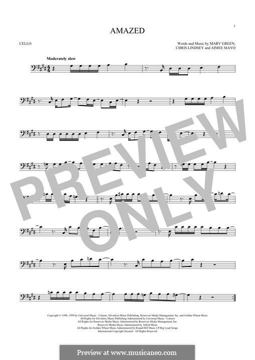 Amazed (Lonestar): Für Cello by Aimee Mayo, Chris Lindsey, Marv Green