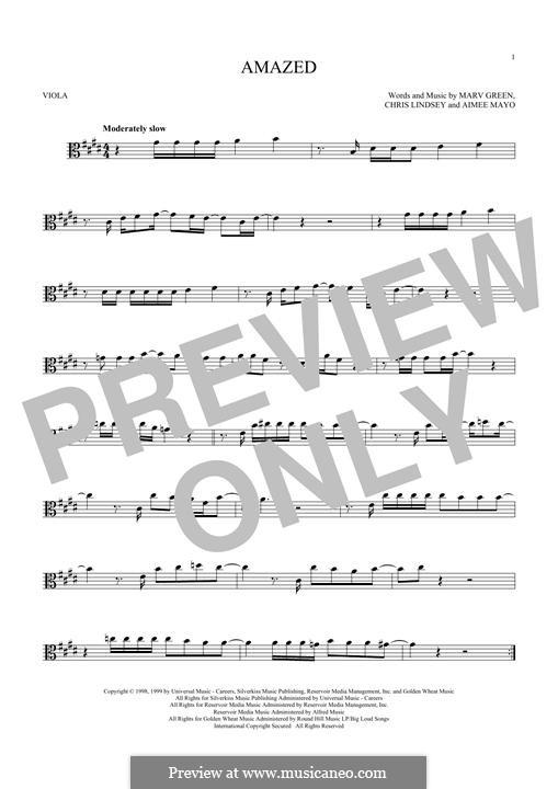 Amazed (Lonestar): For viola by Aimee Mayo, Chris Lindsey, Marv Green