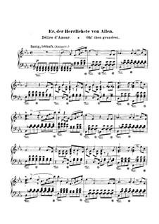 Frauenliebe und Leben, Op.42: Nr.2 Er, der Herrlichste von Allen, für Klavier by Robert Schumann