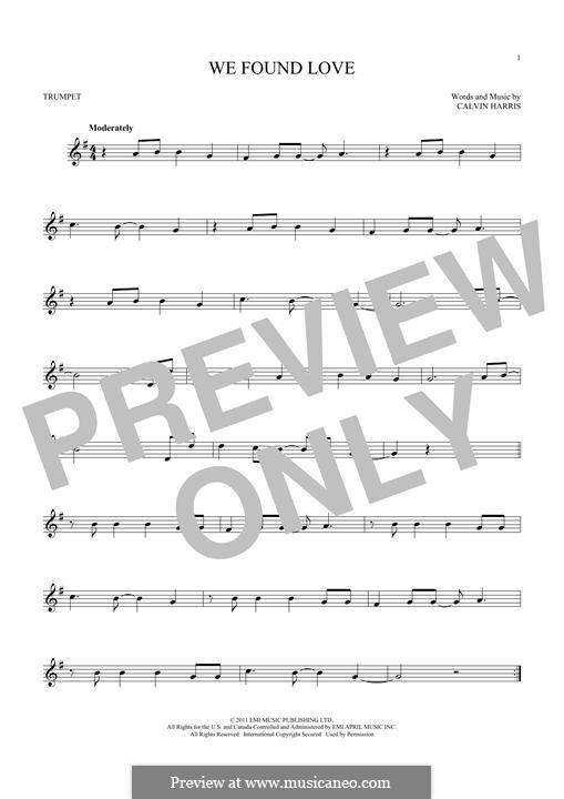 We Found Love: Für Trompete by Calvin Harris