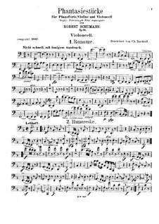 Fantasiestücke für Klaviertrio, Op.88: Cellostimme by Robert Schumann