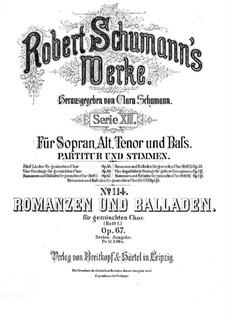 Romanzen und Balladen, Op.67: Vollsammlung by Robert Schumann