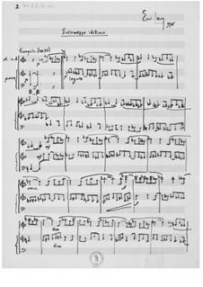 Intermezzo idilliaco für Klarinette und Klavier: Intermezzo idilliaco für Klarinette und Klavier by Ernst Levy