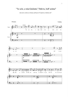 Die Capulets und die Montague: Tu sola, o mia Giulietta, Deh tu, bell' anima by Vincenzo Bellini