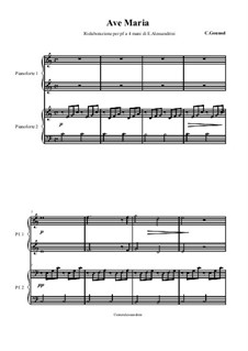 Ave Maria: Für Klavier, vierhändig by Johann Sebastian Bach, Charles Gounod