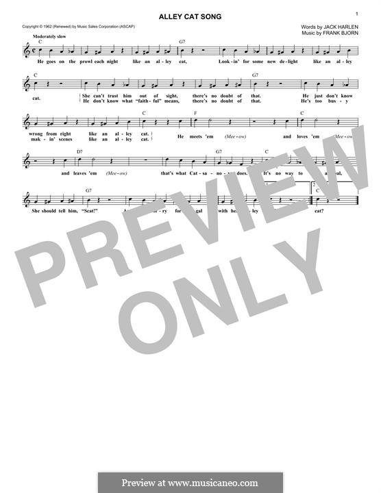 Alley Cat: Melodische Linie by Frank Bjorn
