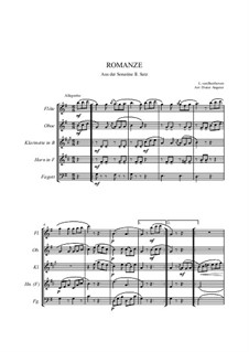 Sonatine in G-Dur: Romanze, for wind ensemble by Ludwig van Beethoven