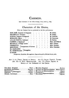 Vollständiger Oper: Ouvertüre und Akt I by Georges Bizet
