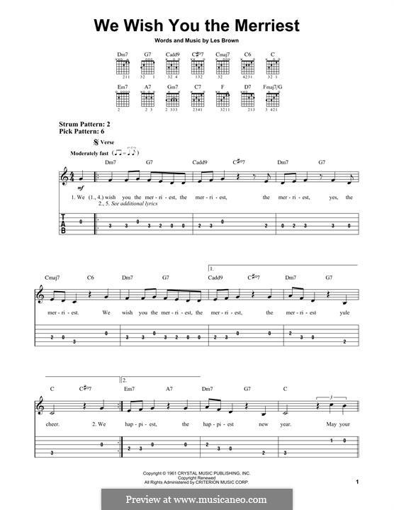 We Wish You the Merriest (Frank Sinatra): Für Gitarre mit Tabulatur by Lester Brown