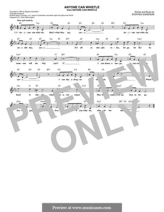 Anyone Can Whistle: Melodische Linie by Stephen Sondheim