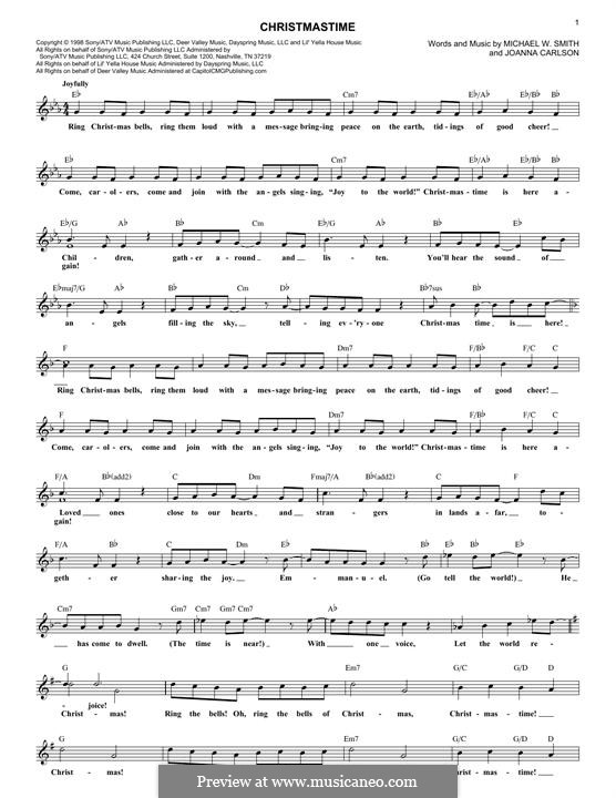 Christmastime: Melodische Linie by Joanna Carlson, Michael W. Smith
