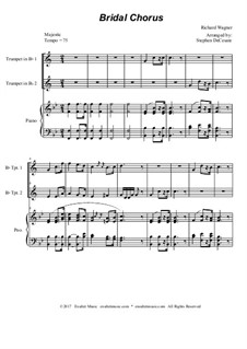Brautlied: Duet for Bb-trumpet - piano accompaniment by Richard Wagner