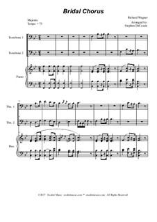 Brautlied: Trombone duet - piano accompaniment by Richard Wagner