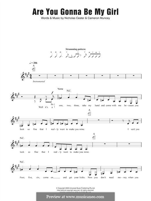Are You Gonna Be My Girl (Jet): Für Ukulele by Cameron Muncey, Nic Cester