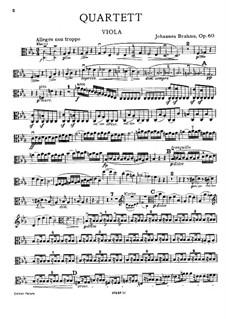 Klavierquartett Nr.3 in c-Moll, Op.60: Bratschenstimme by Johannes Brahms