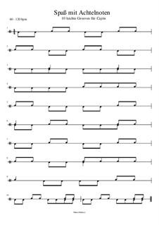 Spaß mit Achtelnoten - Cajóngrooves mit 8tel Noten: Spaß mit Achtelnoten - Cajóngrooves mit 8tel Noten by Manu Holmer