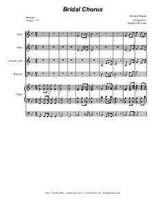 Brautlied: For woodwind quartet - organ accompaniment by Richard Wagner