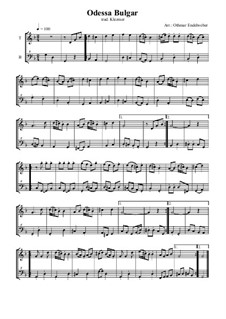 Odessa-Bulgar: For tenor and bass recorder by folklore