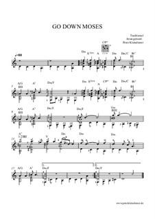 Go Down Moses: Für Gitarre by folklore