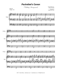Kanon in D-Dur: Wedding arrangement: Bb-trumpet solo with organ accompaniment by Johann Pachelbel