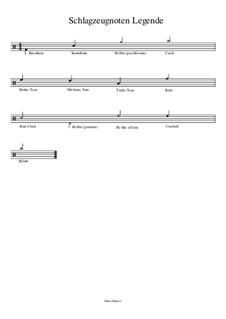 Schlagzeugnoten Legende: Schlagzeugnoten Legende by Manu Holmer