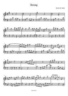 Strong - Solo für Klavier: Strong - Solo für Klavier by Manu Holmer