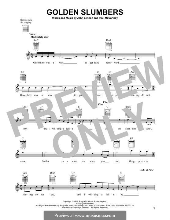 Golden Slumbers (The Beatles): Für Gitarre mit Tabulatur by John Lennon, Paul McCartney