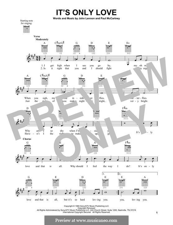 It Won't Be Long (The Beatles): Für Gitarre mit Tabulatur by John Lennon, Paul McCartney