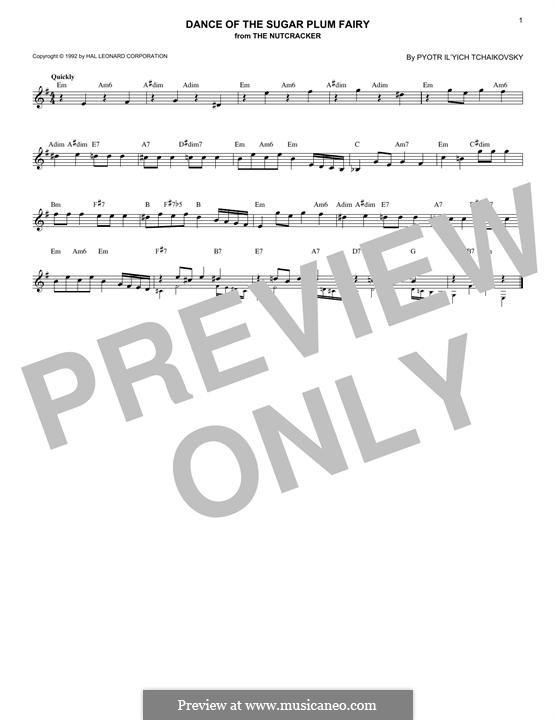 Nr.3 Tanz der Zuckerfee: Melodische Linie by Pjotr Tschaikowski