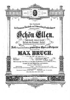Schön Ellen, Op.24: Schön Ellen by Max Bruch