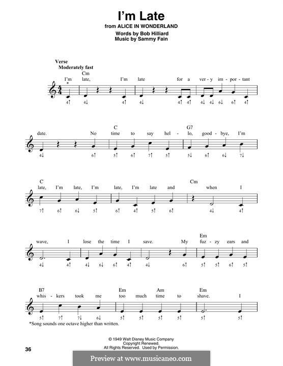 I'm Late: For harmonica by Sammy Fain