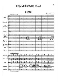 Sinfonie Nr.2 in c-Moll, WAB 102: Vollpartitur by Anton Bruckner