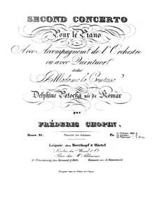 Vollständiger Konzert: Streicherstimmen by Frédéric Chopin