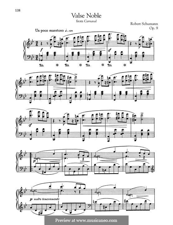 Karneval, Op.9: No.4 Valse noble by Robert Schumann