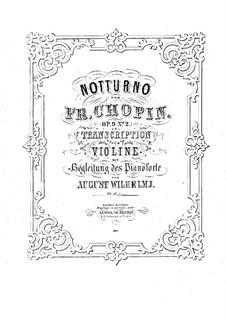 Nr.2 in Es-Dur: Für Violine und Klavier von A. Wilhelmj by Frédéric Chopin