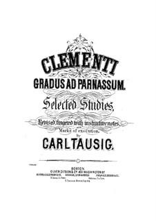 Tausig Ausgabe: Etüden Nr.1-2 by Muzio Clementi