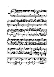 Tausig Ausgabe: Etüden Nr.13-17 by Muzio Clementi