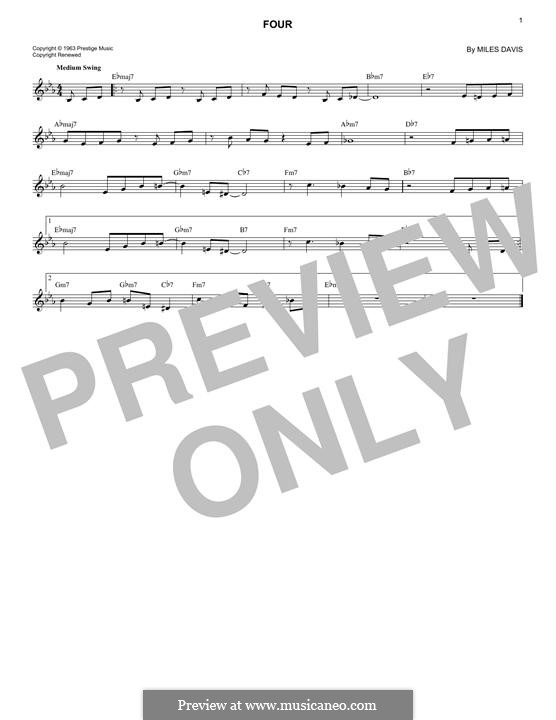 Four: Melodische Linie by Miles Davis