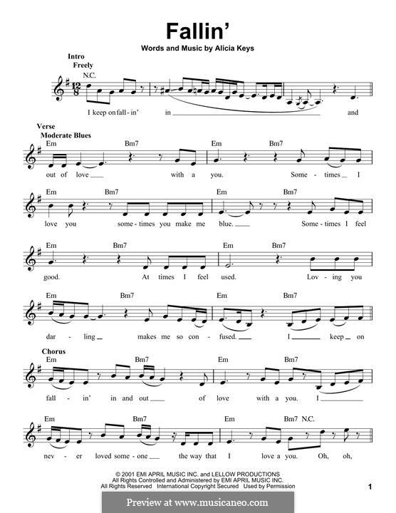 Fallin': Melodische Linie by Alicia Keys