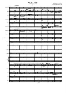 Sonatine für Klavier in fis-Moll, M.40: Minuet. Transcription for orchestra by Maurice Ravel