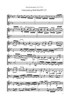 Canzonetta g-Moll, BuxWV 173: Canzonetta g-Moll by Dietrich Buxtehude