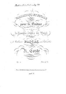 Variationen und Finale über Themen aus 'Die Schweizer Familie' von Weigl, Op.2: Für Gitarre by Napoléon Coste