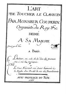 Die Kunst das Clavecin zu spielen: Für einen Interpreten (Französischer Text) by François Couperin