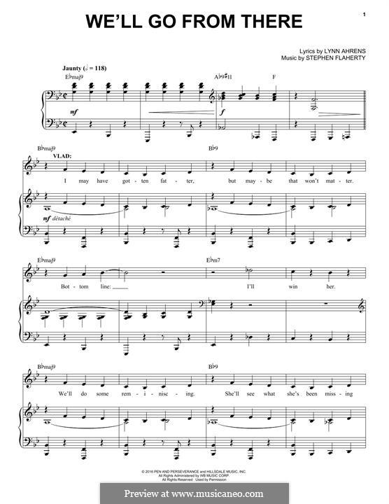 We'll Go from There: Für Stimme und Klavier by Lynn Ahrens, Stephen Flaherty