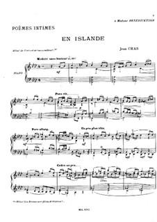 Cinq poèmes intimes: No.1 En Islande by Jean Cras