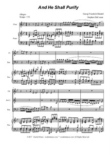 And He Shall Purify: For woodwind quartet by Georg Friedrich Händel