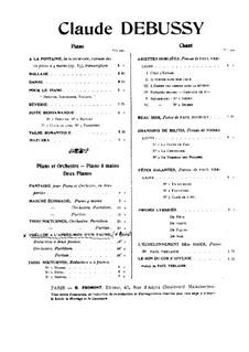 Prélude à l'après-midi d'un faune (Vorspiel zum Nachmittag eines Faunes), L.86: Für Klavier, vierhändig by Claude Debussy